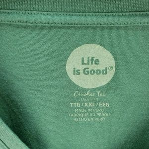 Life Is Good Tops - Women's Plus Size Life is Good Shirt Green XXL New